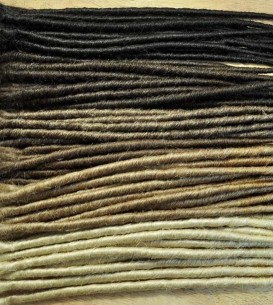 50 x Backcombed/Twist Single Ended Dreadlock Extensions