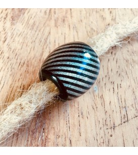 Acrylic Beads x 5 - Silver...