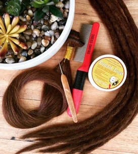 DIY Human Hair Dread Extension Kit, includes 100gm weft