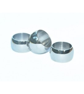 3 x Stainless Steel Band Beads