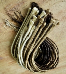 10 x Thin Backcombed/Twist Single Ended Dreadlock Extensions