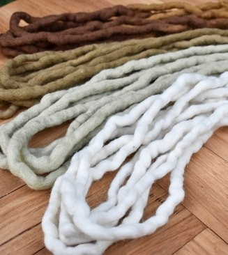 Wool Dreadlocks are double ended for braiding in are soft and flexible