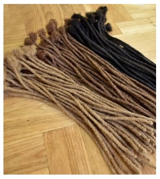 Afro kinky human hair dreadlocks